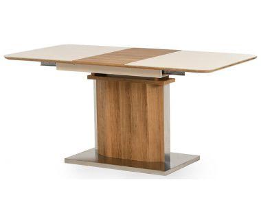Раскладной стол TML-525 бежевый, дуб натуральный 120 (+40)*80*76 см