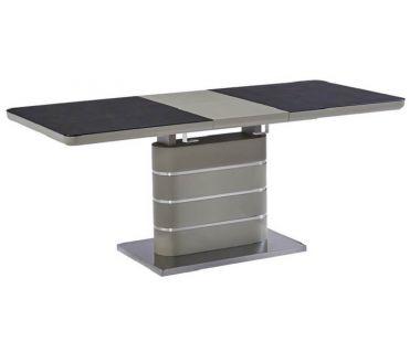 Стол раскладной TML-530 черный кварц-мокко 140 (+40)*80*76 см
