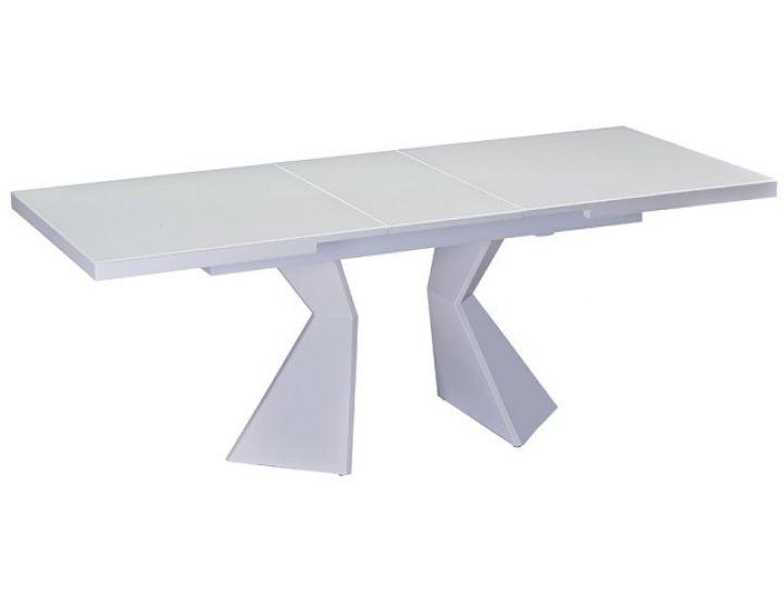 Раскладной стол стеклянный TML-535-2 белый сатин 140(+35)*85*76 см