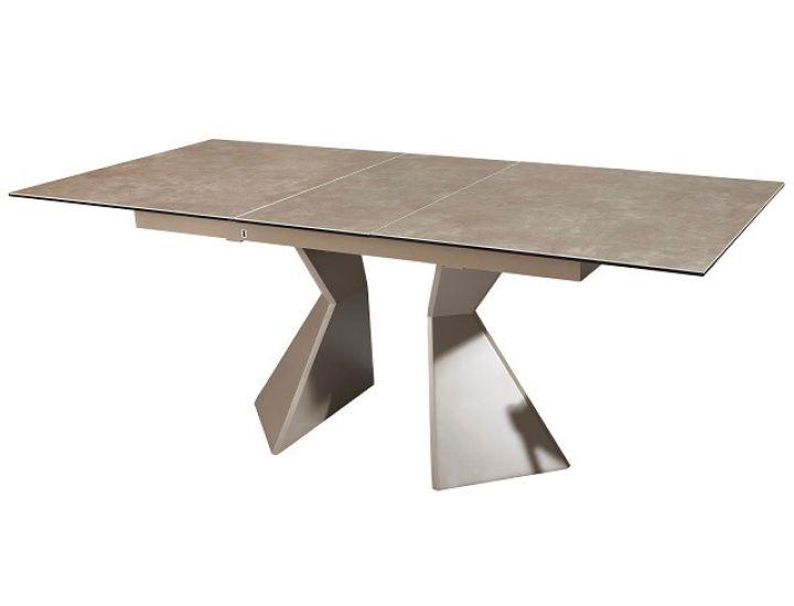 Раскладной стол стеклянный TML-535 латте 160(+40)*90*76 см