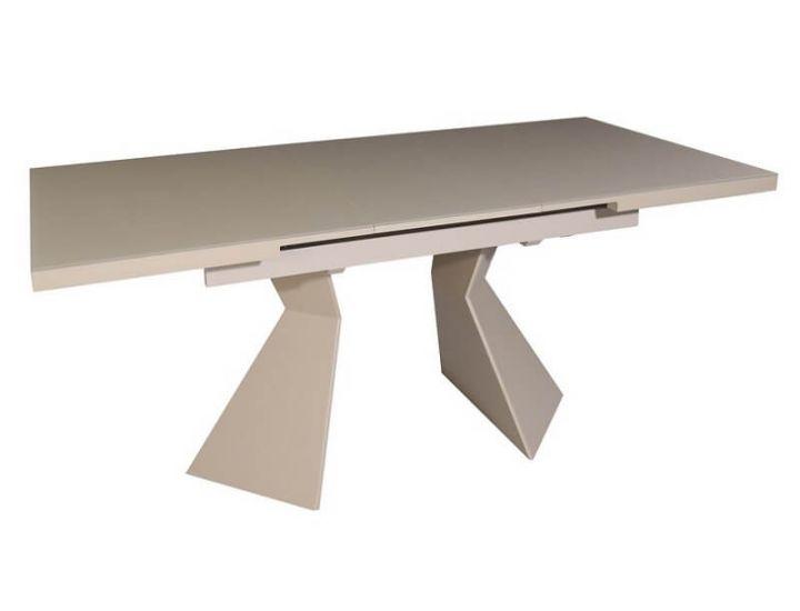 Раскладной стол стеклянный TML-545 капучино матовый 145 (+30) * 85 * 76 см
