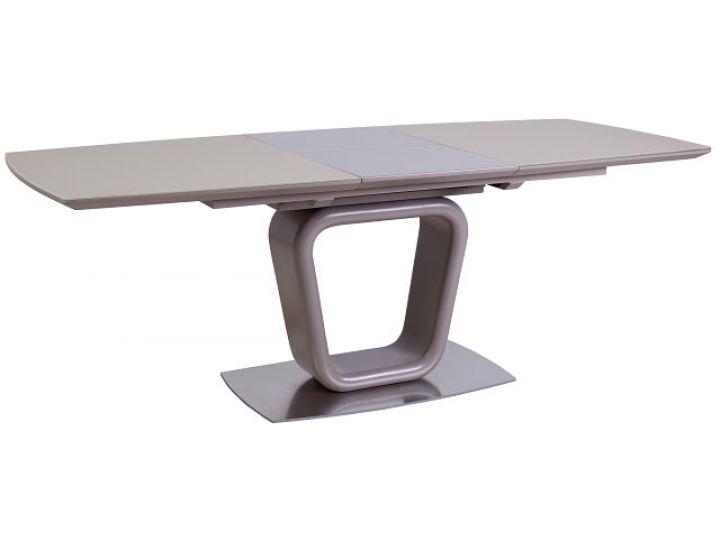 Раскладной стол стеклянный TML-551 бежевый сатин 140(+50)*90*75 см