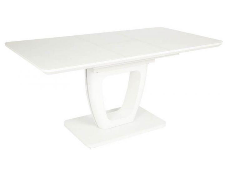 Раскладной стол стеклянный TML-560 белый матовый VETRO (Ветро)