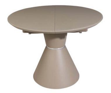 Раскладной круглый стол TML-651 капучино матовый 105 (+40) * 105 * 76 см