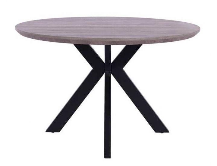 Стол обеденный  круглый TML-660 пепельный дуб 120 см