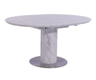 Раскладной стол TML-670 белый мрамор 110 (+40)*100*76 см