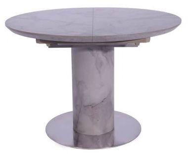 Раскладной стол TML-670 серый мрамор 110 (+40)*100*76 см