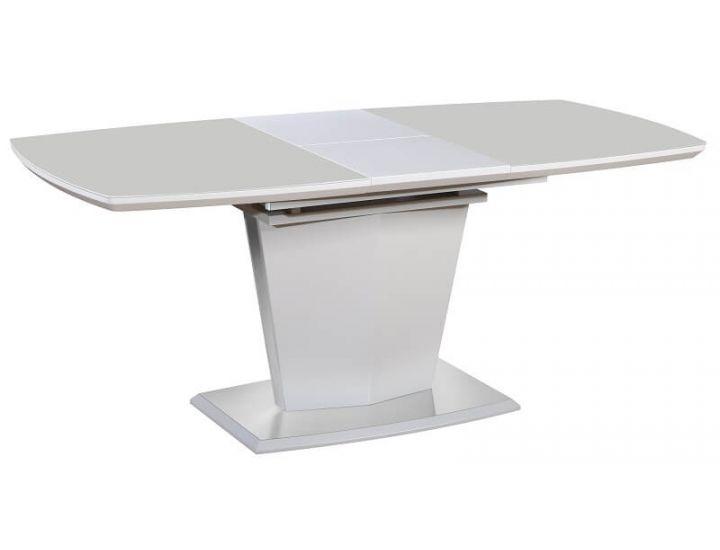 Раскладной стол стеклянный матовый TML-700 капучино 140(+40)*80*76 см