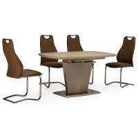 Раскладной стол матовый TML-700 капучино 140(+40)*80*76 см