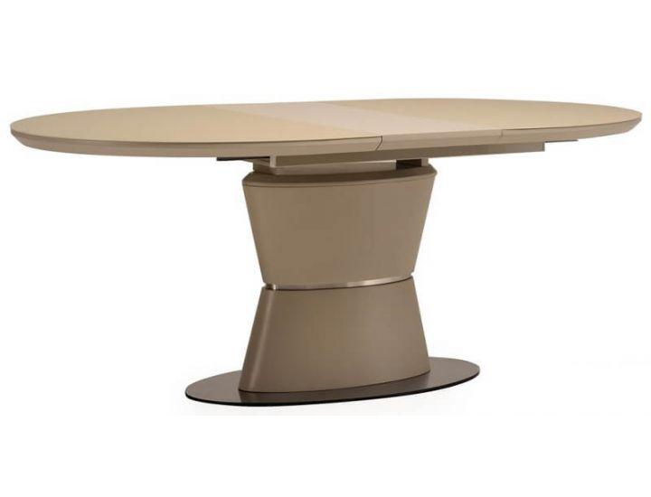 Раскладной стол стеклянный матовый TML-755 капучино 160(+40)*90*76 см
