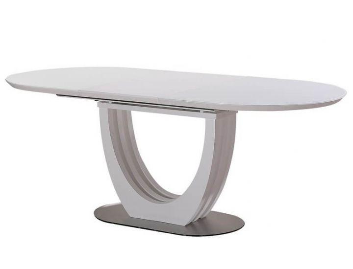 Раскладной стол стеклянный матовый TML-760 капучино 150 (+50)*90*76 см