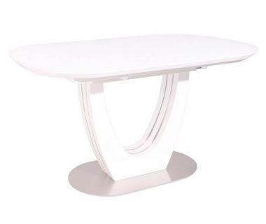 Раскладной стол матовый TML-765 белый 140 (+40) * 85 * 76 см