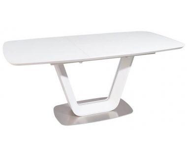 Раскладной стол TML-770-1 белый матовый 140 (+40) * 85 * 76 см