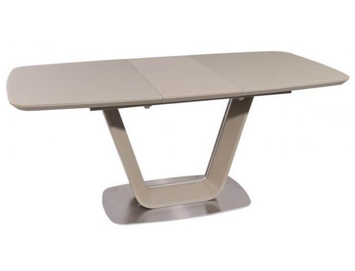 Раскладной стол стеклянный TML-770-1 капучино матовый 140 (+40) * 85 * 76 см
