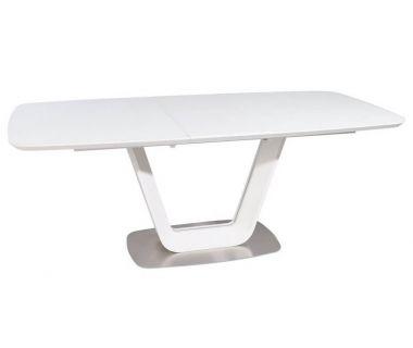 Раскладной стол матовый TML-770 белый 160 (+40) * 90 * 76 см