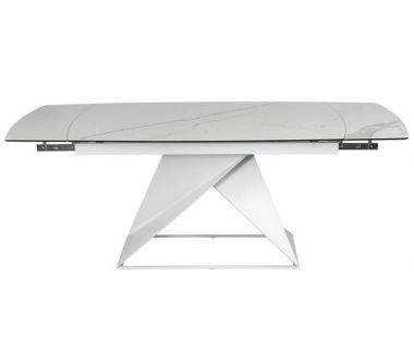 Раскладной стол TML-820 белый мрамор, керамика