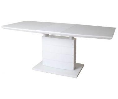 Раскладной стол матовый TMM-50-2 белый 110(+40)*70*76 см