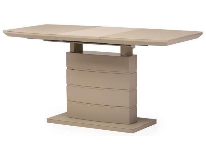 Раскладной стол стеклянный матовый TMM-50-1 мокко 120(+40)*80*76 см