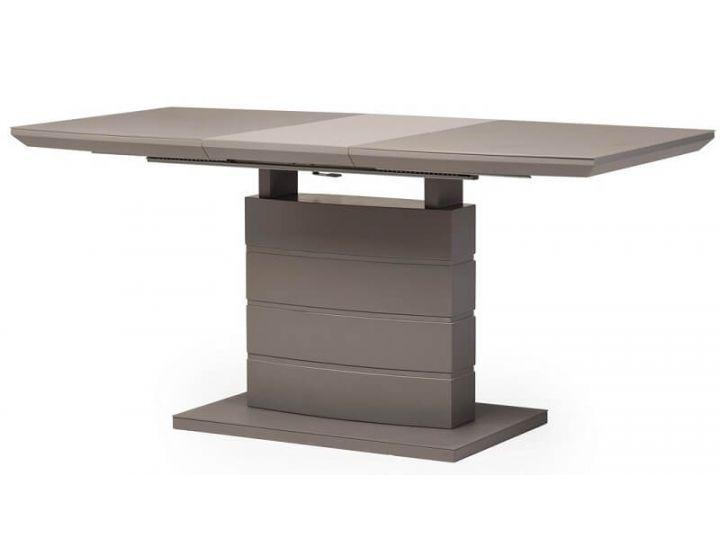 Раскладной стол стеклянный матовый TMM-50-1 серый 120(+40)*80*76 см