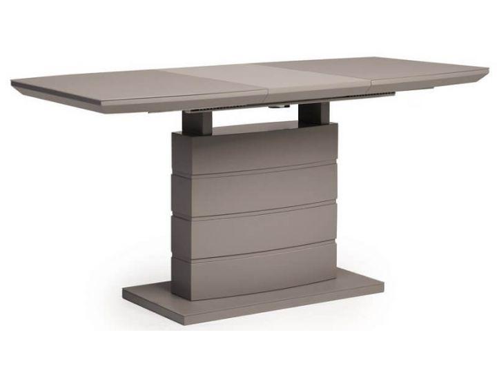 Раскладной стол стеклянный матовый TMM-50-2 серый 110(+40)*70*76 см