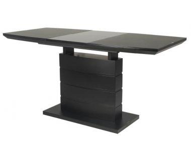 Раскладной стол TMM-50-2 черный матовый 110 (+40) * 70 * 76 см VETRO (Ветро)