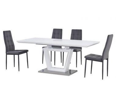 Раскладной стол стеклянный матовый TMM-51-1 белый