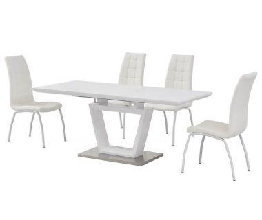 Раскладной стол стеклянный матовый TMM-51 белый