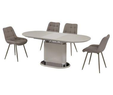 Раскладной стол стеклянный матовый TMM-56 капучино