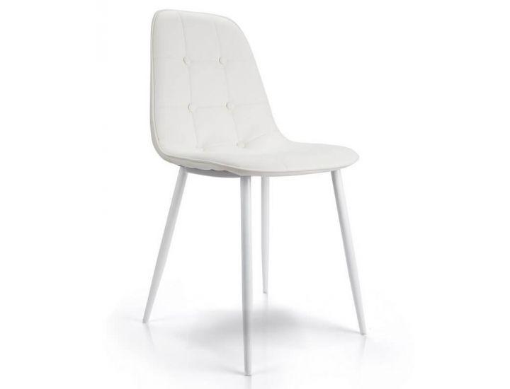 Дизайнерский мягкий стул M-01-3 белый