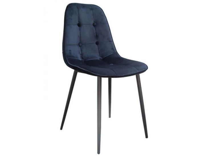 Дизайнерский мягкий стул M-01-3 черный вельвет