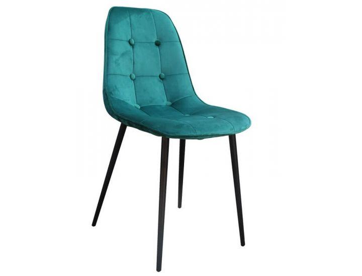 Дизайнерский мягкий стул M-01-3 изумруд вельвет