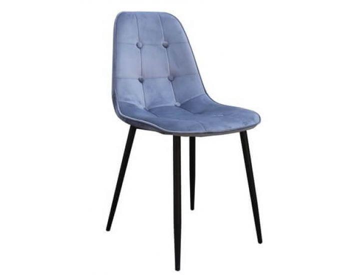 Дизайнерский мягкий стул M-01-3 серый вельвет