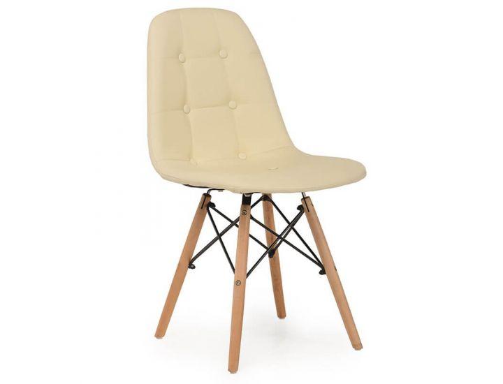 Дизайнерский мягкий стул M-01 бежевый