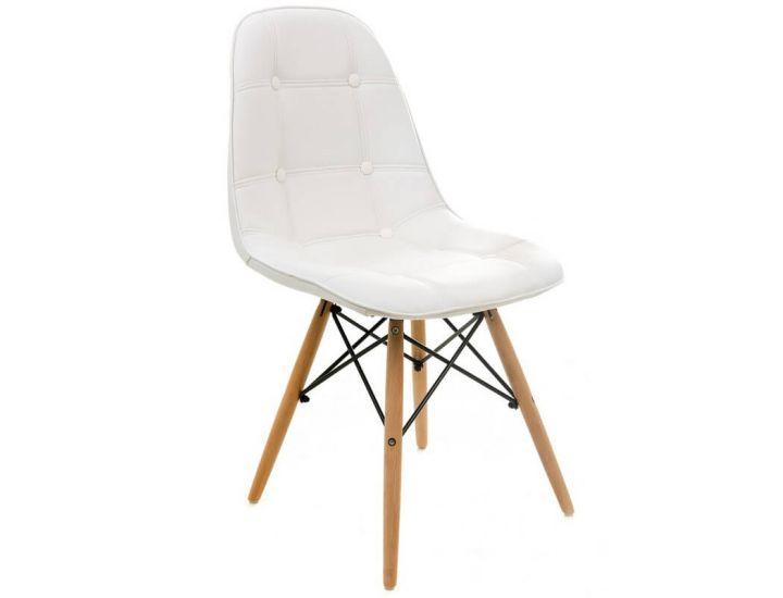 Дизайнерский мягкий стул M-01 белый