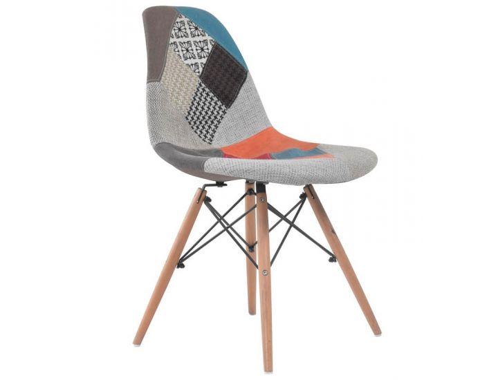 Дизайнерский мягкий стул M-01 patchwork (пэчворк)