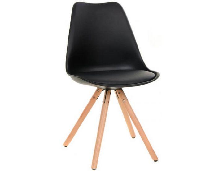 Дизайнерский пластиковый стул M-02 черный