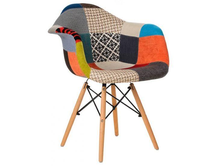 Дизайнерский мягкий стул M-02 patchwork (пэчворк)
