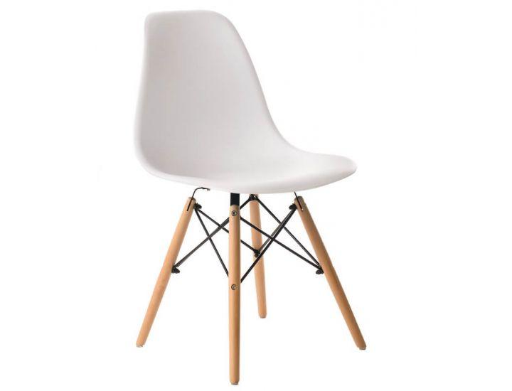 Дизайнерский пластиковый стул Eames Chair M-05 белый