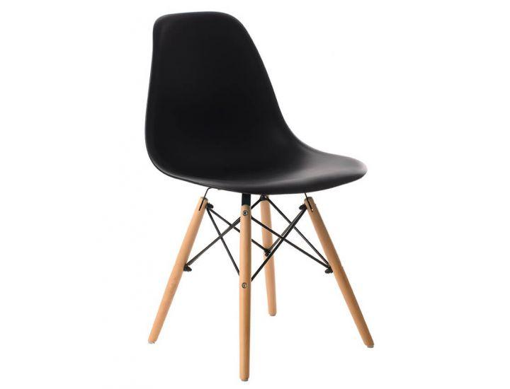 Дизайнерский пластиковый стул Eames Chair M-05 черный