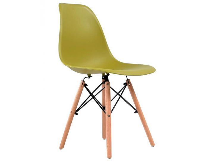 Дизайнерский пластиковый стул Eames Chair M-05 лайм