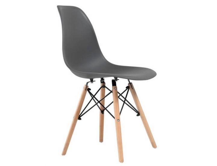 Дизайнерский пластиковый стул Eames Chair M-05 серый