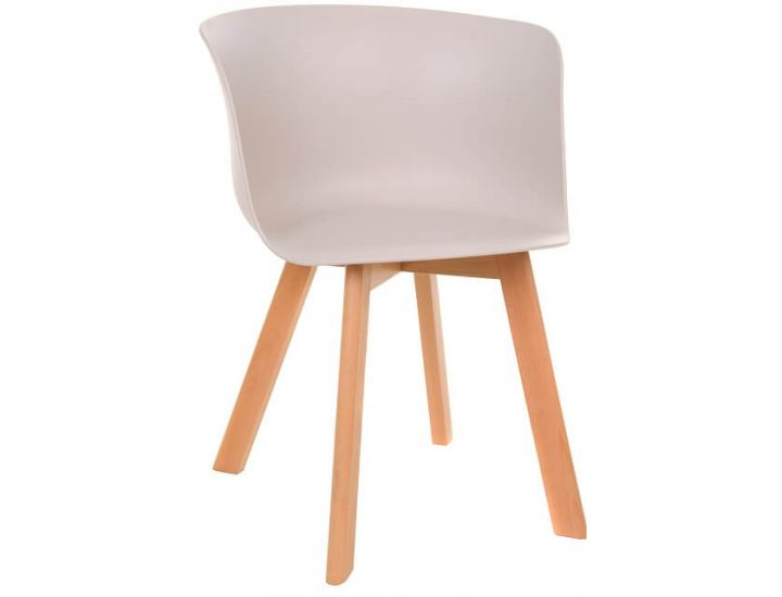 Дизайнерский пластиковый стул M-08 капучино