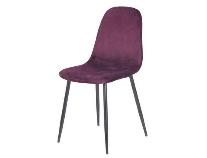 Дизайнерский мягкий стул M-10 баклажан вельвет
