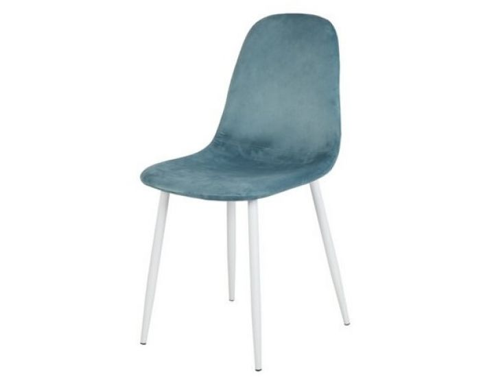 Дизайнерский мягкий стул M-10 голубой вельвет