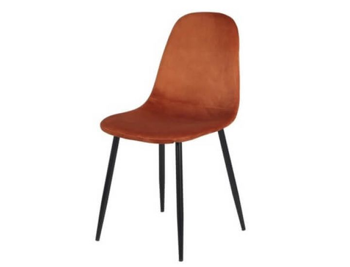 Дизайнерский мягкий стул M-10 горчичный вельвет