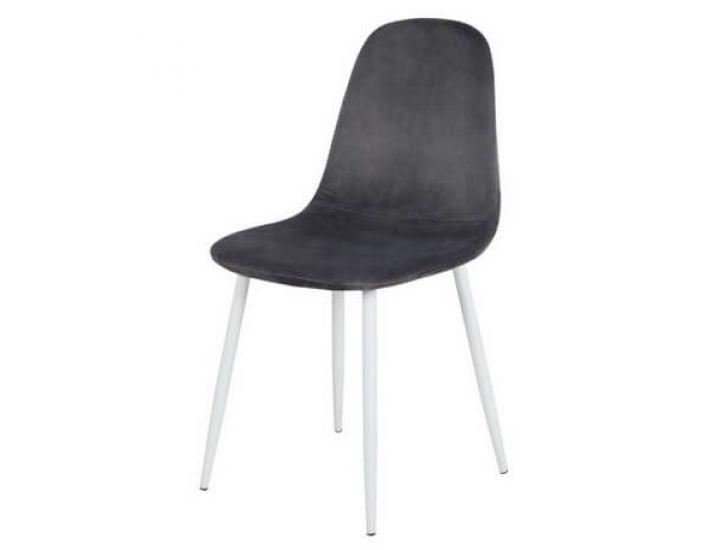 Дизайнерский мягкий стул M-10 серый вельвет