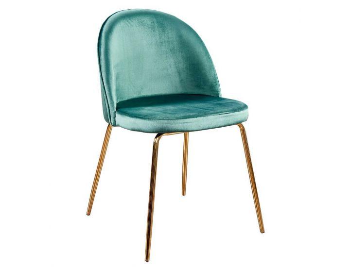 Дизайнерский мягкий стул M-12-2 изумрудный вельвет