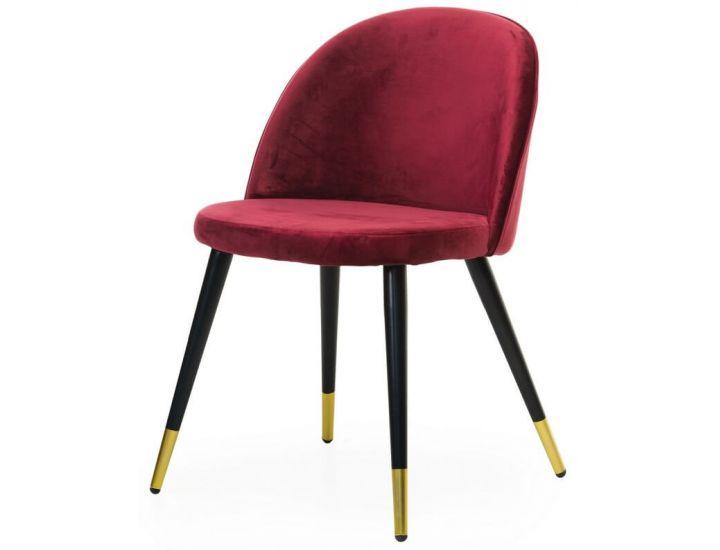 Дизайнерский мягкий стул M-12-4 красный