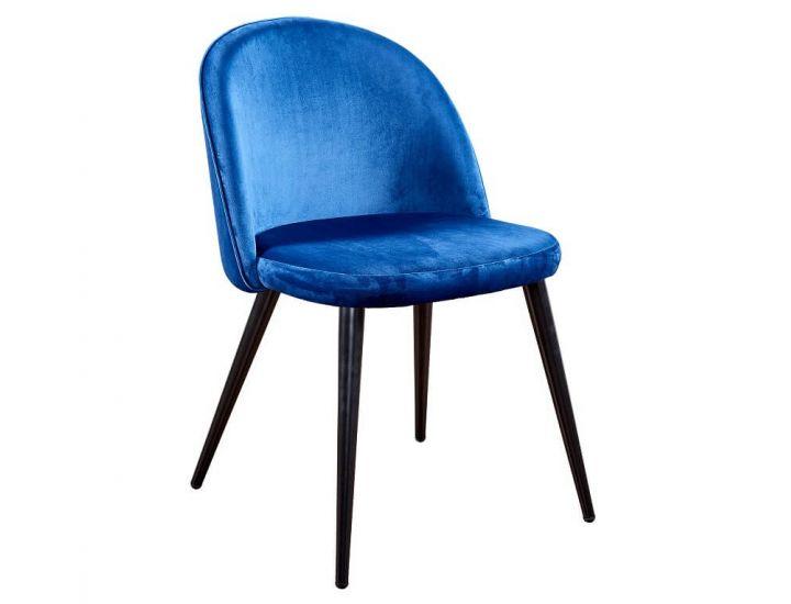 Дизайнерский мягкий стул M-12 сапфир вельвет