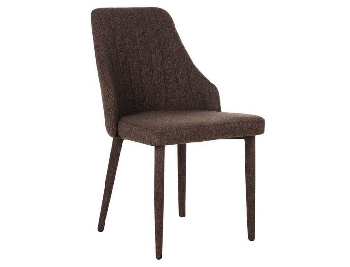 Дизайнерский мягкий стул M-13 коричневый